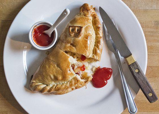 Cheese and bacon pasty