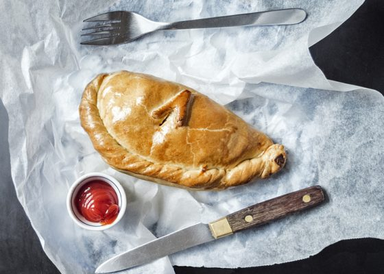 Cornish vegetable pasty